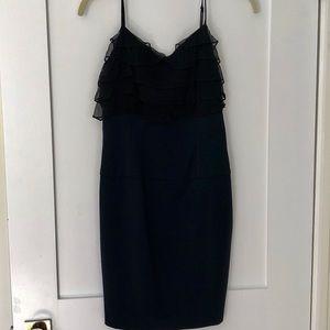 Black Halo Ruffle Top Spaghetti Strap Dress NWT